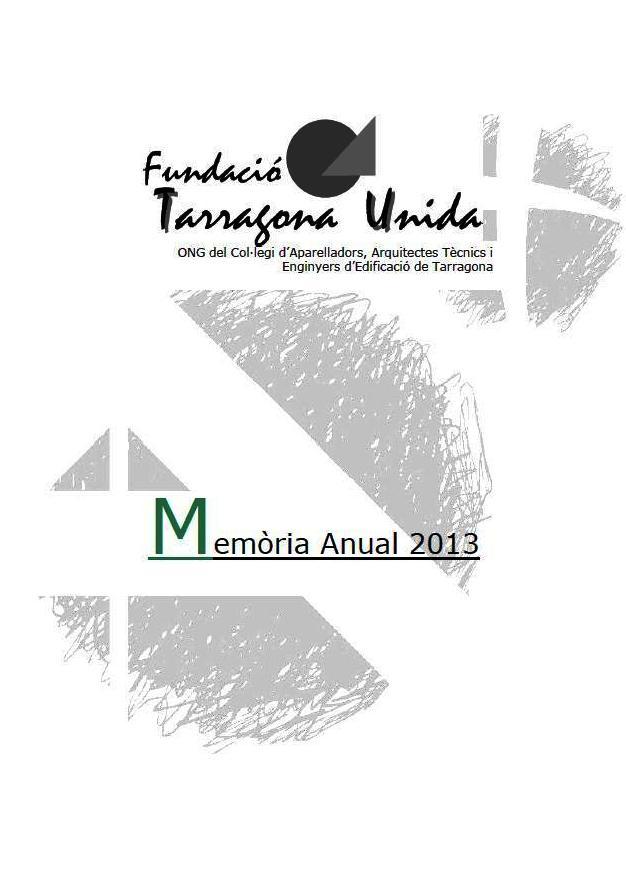 Memòria 2013 - Tarragona Unida