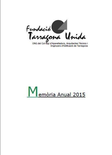 TARRAGONA UNIDA.menòria-2015