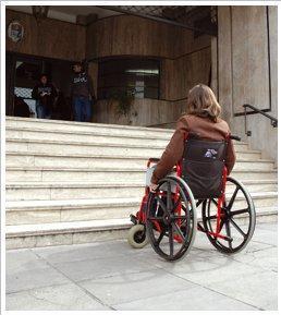 escales accés edifici